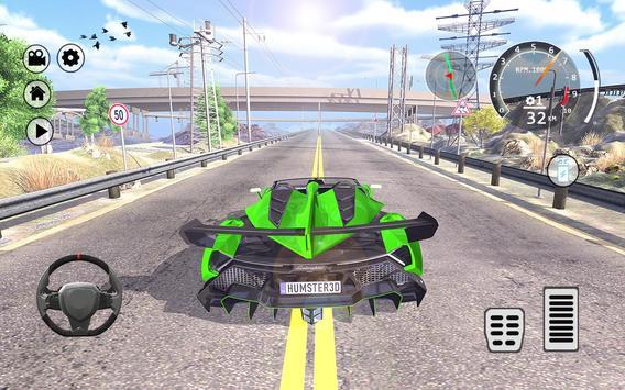 Drift Simulator: Veneno Roadster poster
