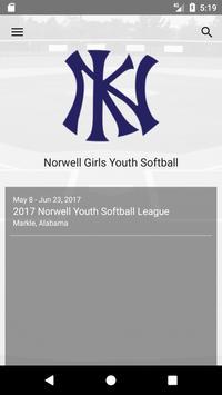 Norwell Girls Youth Softball poster