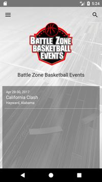 Battle Zone Basketball Events poster