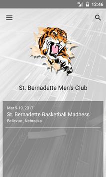 St. Bernadette Men's Club poster