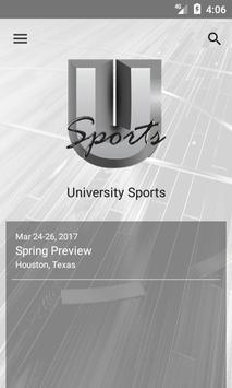 University Sports poster
