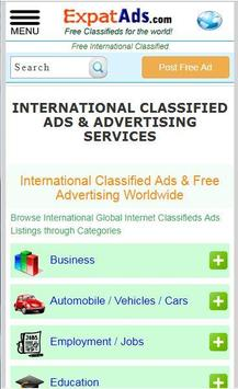 Free International Classifieds Ad App ExpatAds.com poster