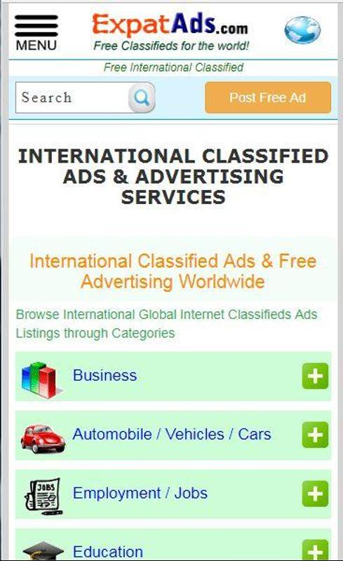 7506b1994f Free International Classifieds Ad App ExpatAds.com for Android - APK ...