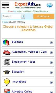 Free International Classifieds Ad App ExpatAds.com screenshot 1