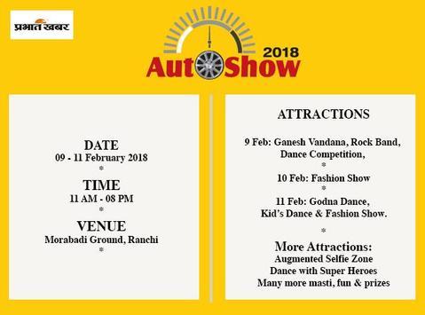 AutoShow 2018 (Prabhat Khabar) poster