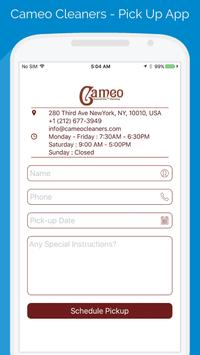 Cameo Cleaners - Pick Up App poster
