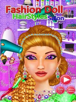 Fashion Doll Hair style Salon poster