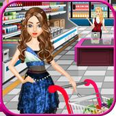 Supermarket Shopping Girl icon