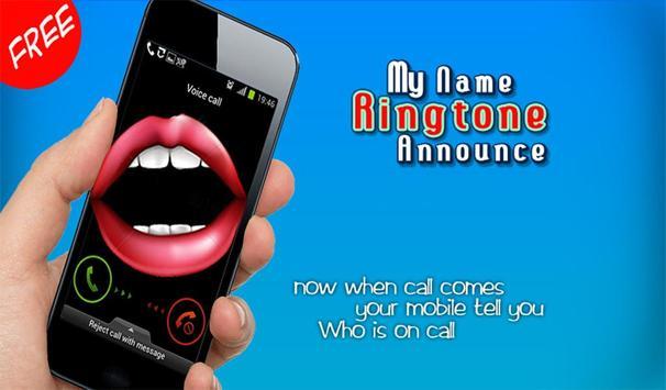 My Name Ringtone Announce apk screenshot
