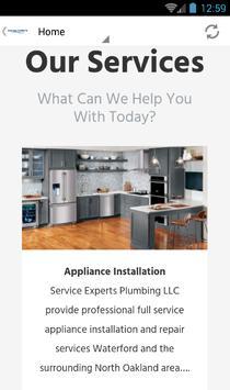 Service Experts Plumbing apk screenshot