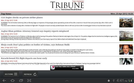 The Express Tribune News screenshot 1