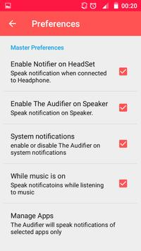 Notification Speaker(Audifier) apk screenshot