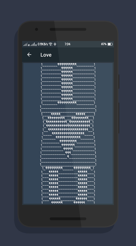 Sms ascii bilder 20 ASCII