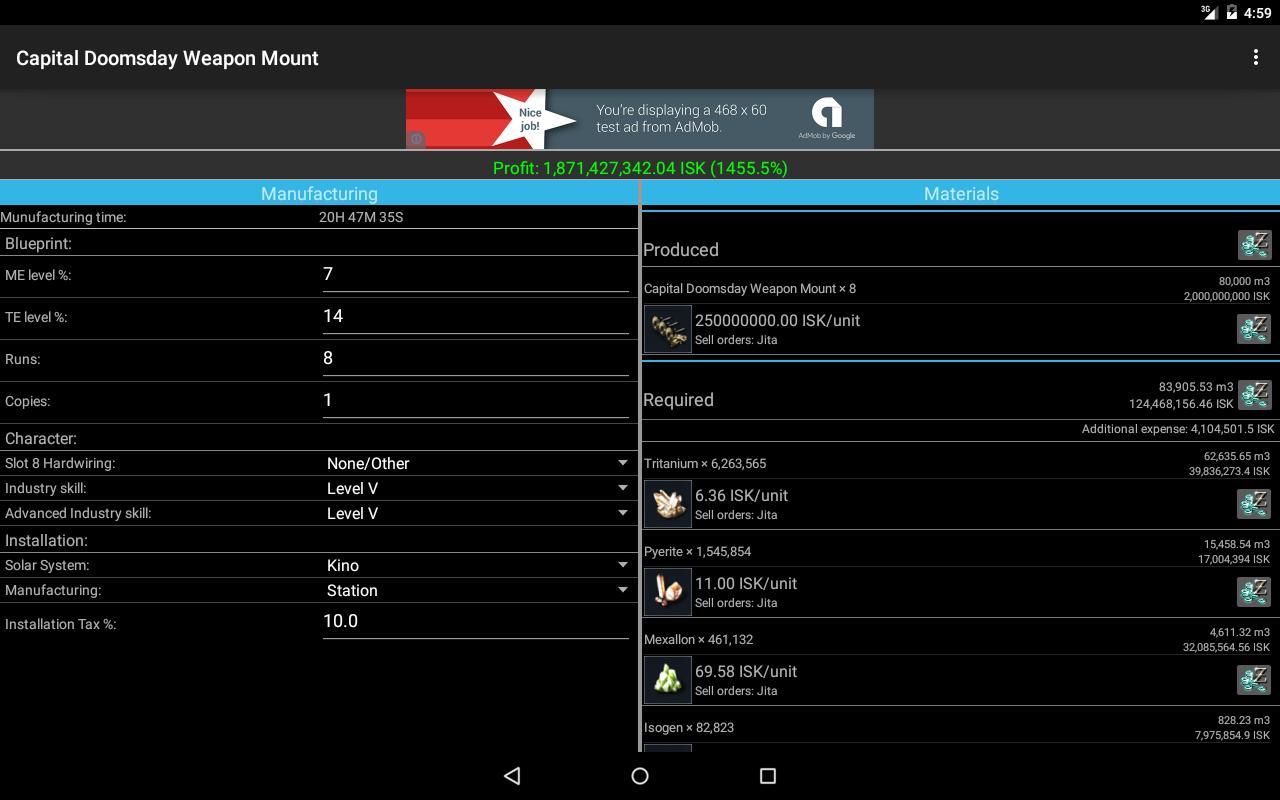 Industry calculator for eve descarga apk gratis herramientas industry calculator for eve captura de pantalla de la apk malvernweather Image collections