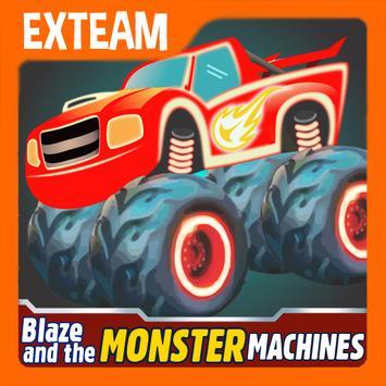 Blaze Light Monster Truck Games poster