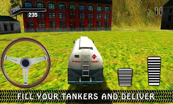 Offroad Oil Tanker Transporter Truck Simulator screenshot 1