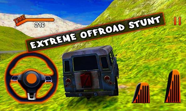 Offroad 3D Jeep Driving Simulator poster