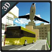 3D Airport Bus Service Driving Simulator icon