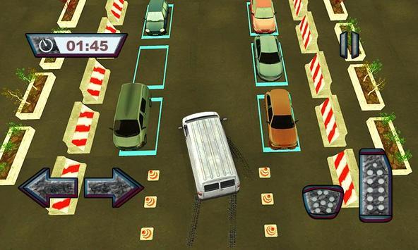 Real Van Parking : postman delivery truck driver apk screenshot