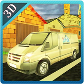 3D Mineral Water Bottle Transporter Simulator icon
