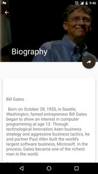 Bill Gates(Biography & Quiz) apk screenshot
