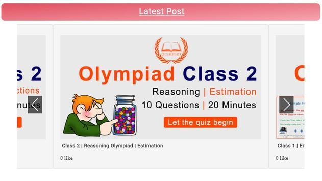 Olympiad App for Classes 1,2,3,4,5,6,7,8 screenshot 1