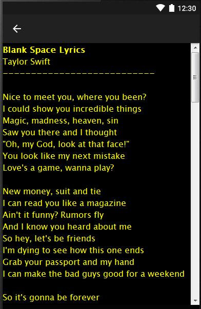 Taylor Swift Love Story Lyrics For Android Apk Download