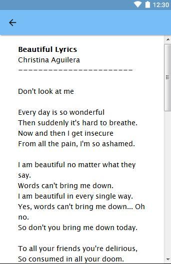 beautiful by christina aguilera lyrics