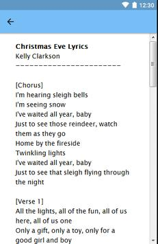 Kelly Clarkson - Christmas Eve Lyrics apk screenshot