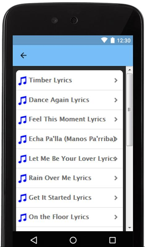download let it rain over me by pitbull