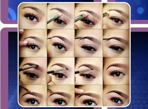 eyebrow pencil tutorial poster