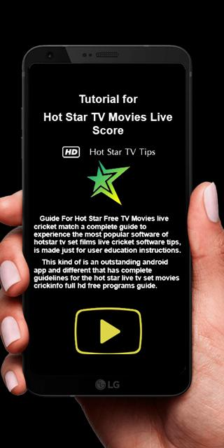 Free HotStar TV Movies Live Score Pro 3 0 1 Tips for Android