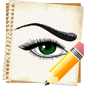 How To Draw Eyes - Free icon