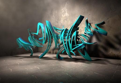 3D Graffiti Design Ideas poster