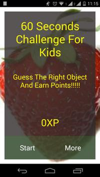 60 Seconds Challenge For Kids poster