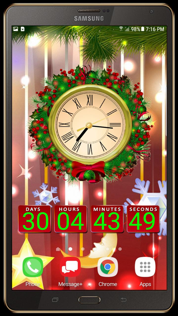 Countdown To Christmas Clock.Christmas Live Wallpaper Xmas Countdown Clock For