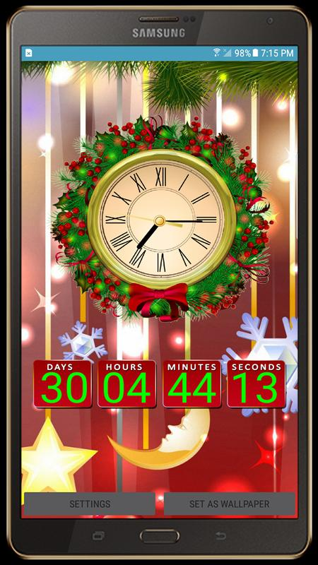 Christmas Live Wallpaper Xmas Countdown Clock For Android Apk