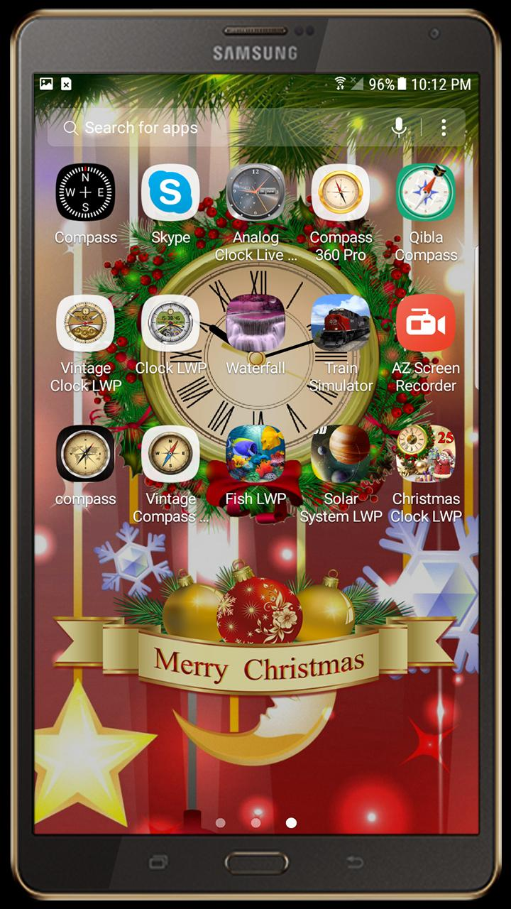 Christmas Live Wallpaper Xmas Count Down Clock Für Android