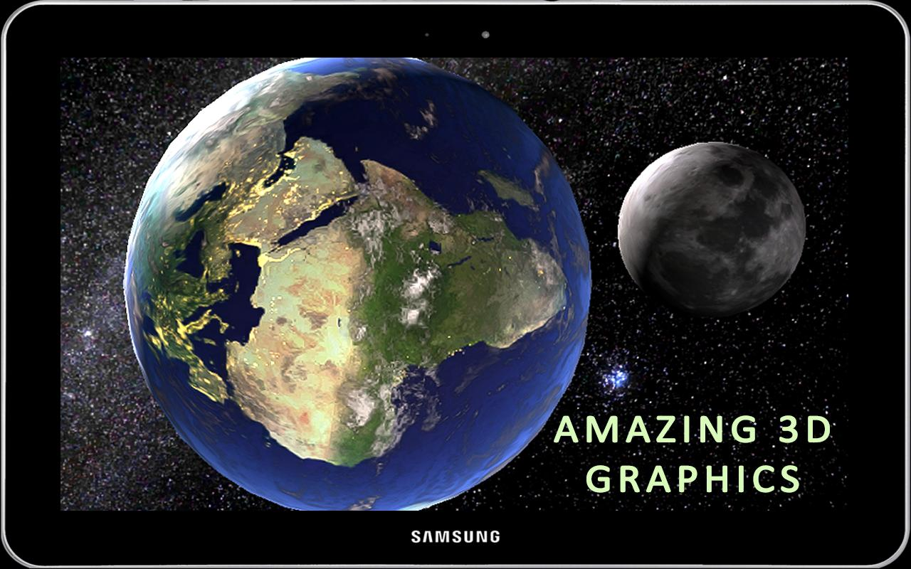 3D Earth & Moon Live Wallpaper 3D Parallax Theme for Android