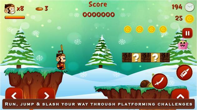 Super Kong Adventure Run: Side Scroller Games Free screenshot 3