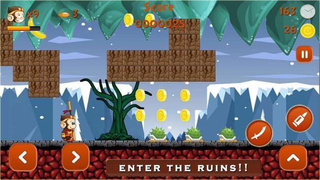 Super Kong Adventure Run: Side Scroller Games Free poster