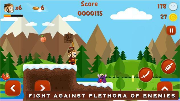 Super Kong Adventure Run: Side Scroller Games Free screenshot 2