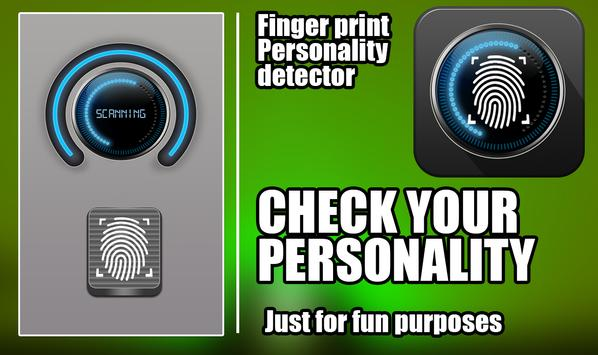 finger personality test prank poster