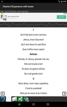Chants D'Esperance with Tunes screenshot 11