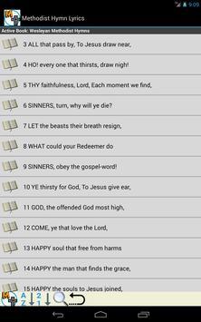 Methodist Hymn Lyrics screenshot 1