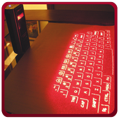 Laser Keyboard 3D Simulated icon