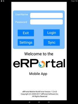 eRPortal screenshot 2