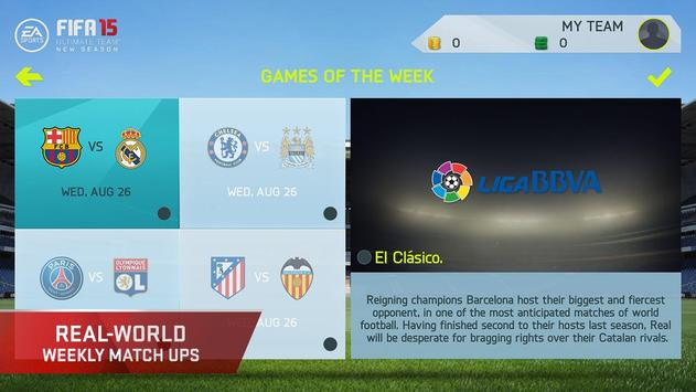 FIFA 15 Soccer Ultimate Team screenshot 3