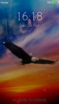 Eagle Live Wallpaper Lock Screen Apk Screenshot