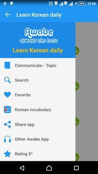 Learn Korean daily - Awabe Cartaz